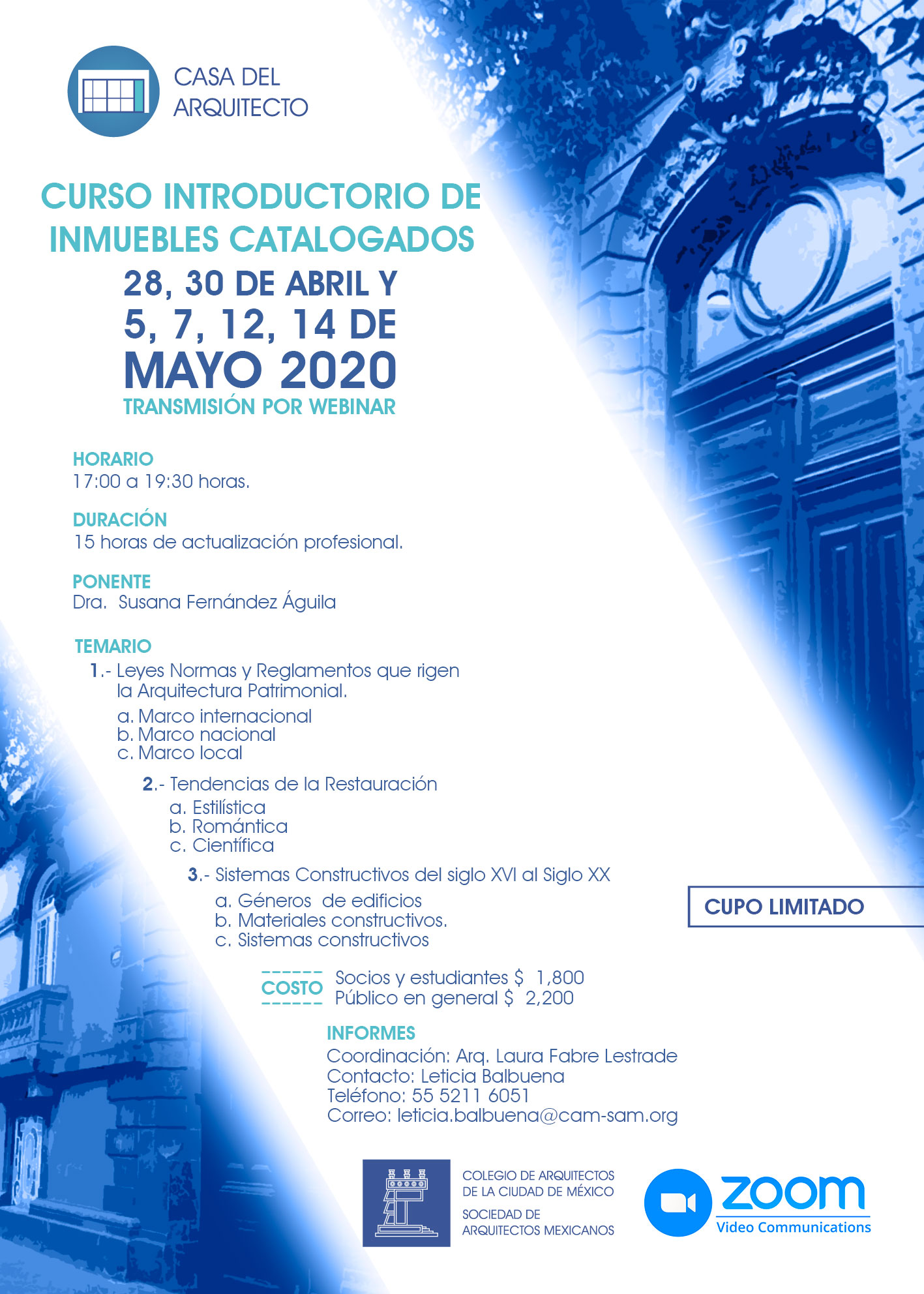 Curso Introductorio de Inmuebles Catalogados